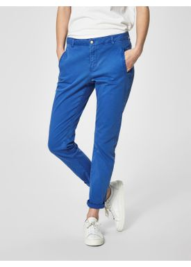Selected Femme - Bukser - Ingrid Tapered Chinos - Surf The Web (Blue)