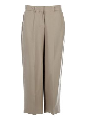 Selected Femme - Pants - Joy Cropped Pants - Beige
