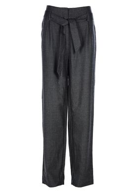 Selected Femme - Bukser - Lima Highwaist Pants - Dark Grey Melange