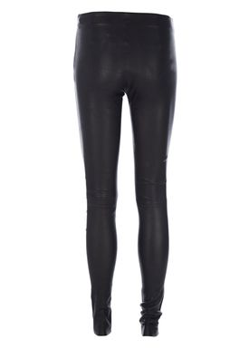 Selected Femme - Bukser - Sylvia Stretch Leather Leggings - Sort