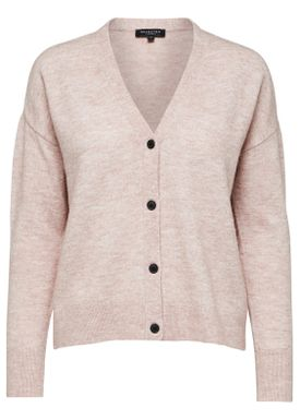 Selected Femme - Cardigan - Helka Knit Cardigan - Adobe Rose