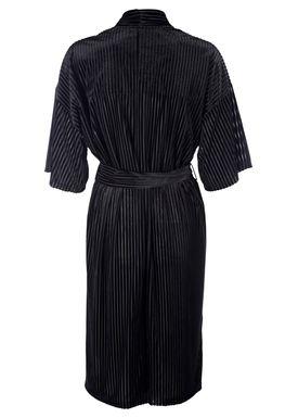 Selected Femme - Cardigan - Marla Kimono - Sort Velour Strib