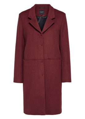 Selected Femme - Coat - Boa Wool Coat - Earth Red