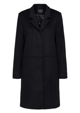 Selected Femme - Coat - Boa Wool Coat - Black