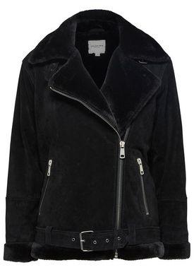 Selected Femme - Jakke - Victoria Split Leather Jacket - Black