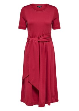 Selected Femme - Kjole - Abina Jersey Dress - Beet Red