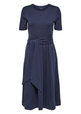 Selected Femme - Kjole - Abina Jersey Dress - Dark Sapphire
