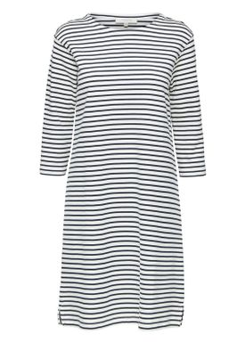 Selected Femme - Dress - Ava 3/4 Stripe Dress - White/Dark Sapphire ...