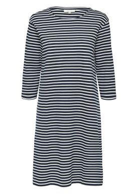Selected Femme - Dress - Ava 3/4 Stripe Dress - Dark Sapphire/White