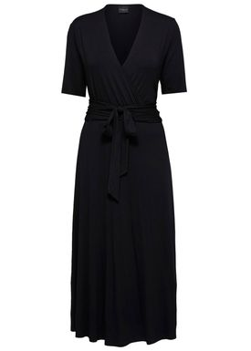 Selected Femme - Klänning - Biaz Wrap Dress - Black