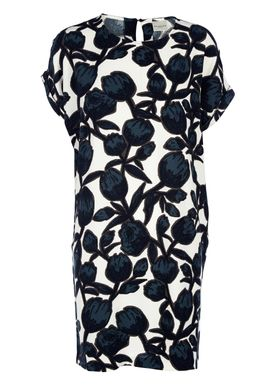 Selected Femme - Kjole - Cathy Dress - Snehvid/Navy Print