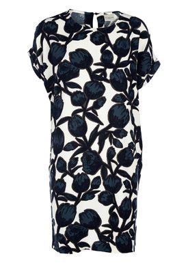 Selected Femme - Kjole - Cathy Dress - Snehvid/Navy Print