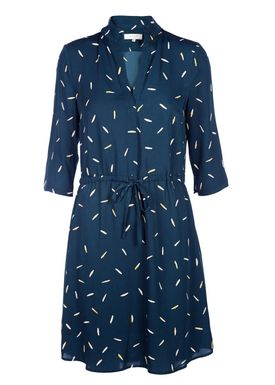 Selected Femme - Kjole - Catia Tie Dress - Reflecting Pond (Petrol)