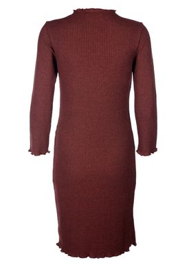 Selected Femme - Kjole - Hamina 3/4 t - Neck Dress - Syrah (Bordeaux) melange