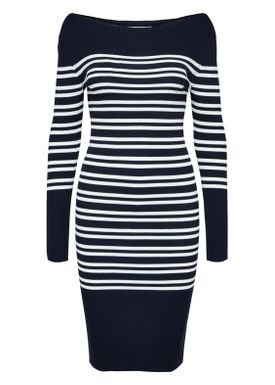 Selected Femme - Dress - Harper Boatneck Dress - Dark Sapphire/White Stripe