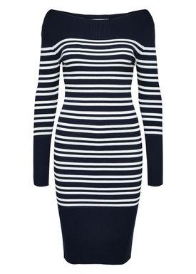 Selected Femme - Kjole - Harper Boatneck Dress - Dark Sapphire/White Stripe