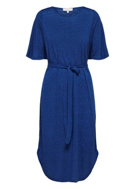 Selected Femme - Kjole - Ivy Beach Dress w. Belt - Surf The Web