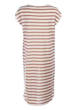 Selected Femme - Kjole - Ivy Knee Dress - Offwhite/Mørk Lyserød