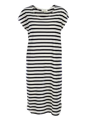 Selected Femme - Kjole - Ivy Knee Dress - Offwhite/Navy