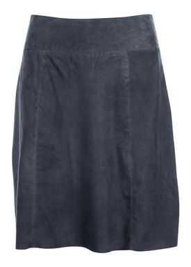 Selected Femme - Nederdel - Bobi Midi Suede Skirt - Ombre Blue