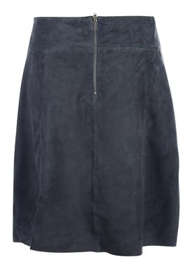 Selected Femme - Skirt - Bobi Midi Suede Skirt - Ombre Blue