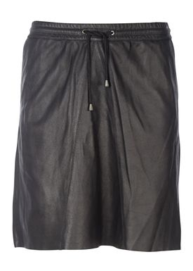 Selected Femme - Skirt - Flora MW Leather Skirt - Black