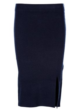 Selected Femme - Nederdel - Inetta Mid Waist Knit Skirt - Navy