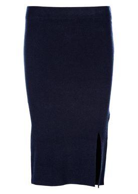 Selected Femme - Nederdel - Inetta Mid Waist Knit Skirt - Navy