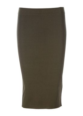 Selected Femme - Nederdel - Mirja Knit Skirt - Grape Leaf (Army)