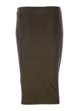 Selected Femme - Nederdel - Mirja Knit Skirt - Grape Leaf (Army)