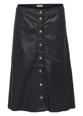 Selected Femme - Skirt - Sonja High Waist Leather Skirt - Black