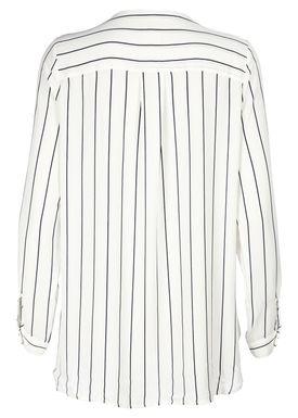 Selected Femme - Shirt - Dark Sapphire Stripes - Cremehvid