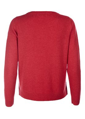Selected Femme - Knit - Aya Cashmere Knit - Cardinal Melange (Red)