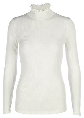 Selected Femme - Strik - Costa Frill Highneck - Snow White