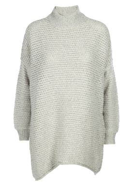 Selected Femme - Strik - Erica LS Knit Pullover - Light Grey