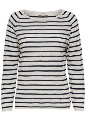 Selected Femme - Strik - Nive Stripe Knit Pullover - Dark Sapphire Stripe