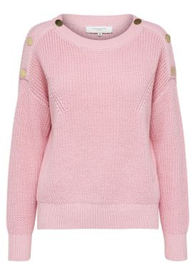 Selected Femme - Strik - Una O-Neck Knit - Blush