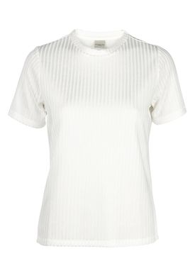 Selected Femme - T-shirt - Erika Tee - Offwhite