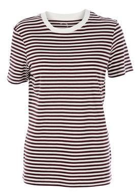 Selected Femme - T-shirt - My Perfect Tee - Bordeaux/Hvid