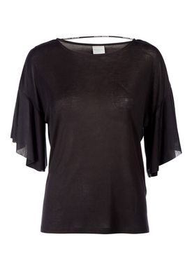 Selected Femme - T-shirt - Sella - Sort