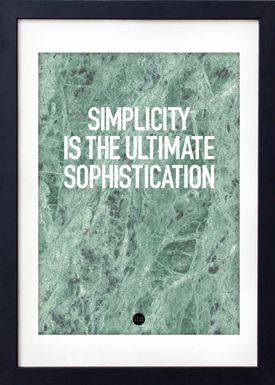 LOVE A FOX - Poster - Simplicity Poster - Green Marble