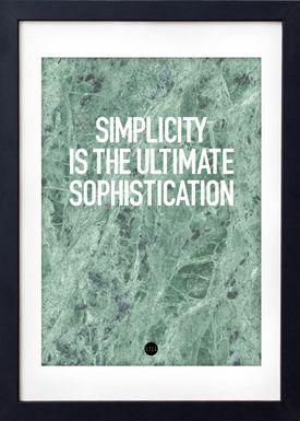LOVE A FOX - Poster - Simplicity Poster - Grøn Marmor
