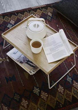 Skagerak - Bakke - Nomad Table Tray - Oak / Steel