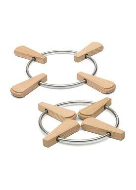 Skagerak - Bordskåner - Folding Trivet / 2 stk - Oak / Stainless Steel