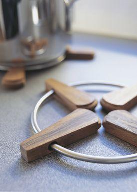 Skagerak - Bordskåner - Folding Trivet / 2 stk - Teak / Stainless Steel