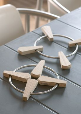 Skagerak - Trivet - Folding Trivet / 2 pcs - Teak / Stainless Steel