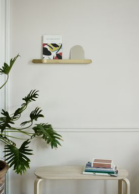 Skagerak - Shelf - Reflect Shelf - Reflect Shelf 56 / Brass / Oak