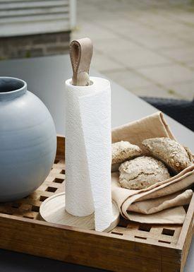 Skagerak - Køkkenrulleholder - Norr Paper Towel Holder - Oak / Leather