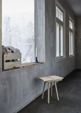 Skagerak - Skammel - Georg Jubilee Stool - Oak/Leather