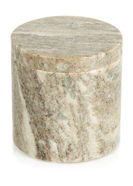 Nordstjerne - Krukke - Small Marble Canister - Brun Marmor